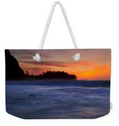 Tunnels Beach Dusk Weekender Tote Bag
