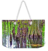 Tupelo/cypress Swamp Reflection At Mile 122 Of Natchez Trace Parkway-mississippi Weekender Tote Bag