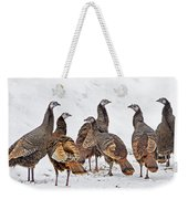 Turkey Family Standing Tall Weekender Tote Bag