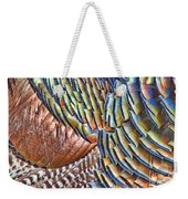 Turkey Feather Colors Weekender Tote Bag