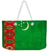 Turkmenistan Flag Vintage Distressed Finish Weekender Tote Bag