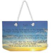 Turn Weekender Tote Bag