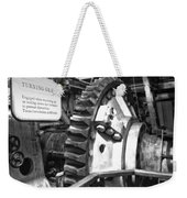 Turning Gear Engine Room Queen Mary Bw Weekender Tote Bag