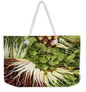 Turnip And Chard Concerto Weekender Tote Bag by Jen Norton