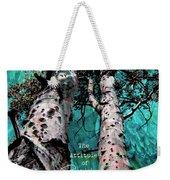 Turquois Trees  Weekender Tote Bag
