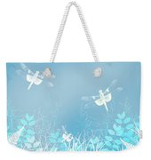 Turquoise Dragonfly Art Weekender Tote Bag