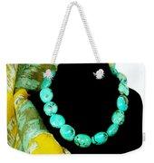 Turquoise Fashion Weekender Tote Bag