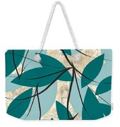 Turquoise Leaves Weekender Tote Bag