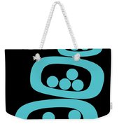 Turquoise Pods Weekender Tote Bag