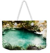 Turquoise River Waterfall And Pond Weekender Tote Bag
