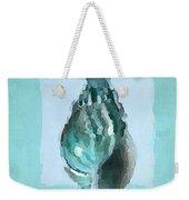 Turquoise Seashells V Weekender Tote Bag by Lourry Legarde