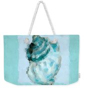 Turquoise Seashells Vi Weekender Tote Bag by Lourry Legarde