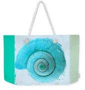 Turquoise Seashells X Weekender Tote Bag