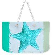 Turquoise Seashells Xi Weekender Tote Bag by Lourry Legarde