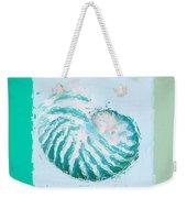 Turquoise Seashells Xii Weekender Tote Bag by Lourry Legarde