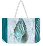 Turquoise Seashells Xx Weekender Tote Bag by Lourry Legarde