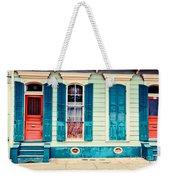 Turquoise Shutters Weekender Tote Bag