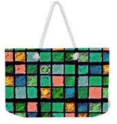 Turquoise Sudoku Weekender Tote Bag