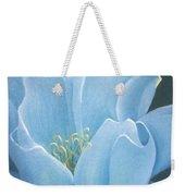 Turquoise Waterlily Weekender Tote Bag