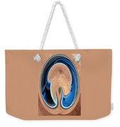 Turquoise Window Abstract 1  Weekender Tote Bag