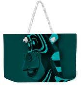 Turquoise Zebra Weekender Tote Bag