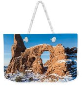 Turret Arch In Winter Weekender Tote Bag