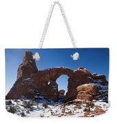 Turret Arch With Snow Arches National Park Utah Weekender Tote Bag