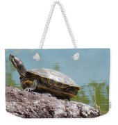 Turtle At The Lake Weekender Tote Bag
