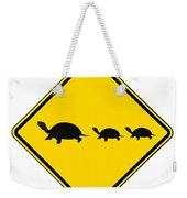 Turtle Crossing Sign Weekender Tote Bag