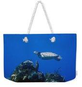 Turtle Flying Underwater Weekender Tote Bag