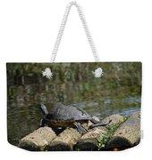Turtle On A Raft Weekender Tote Bag