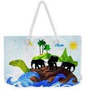 Turtles All The Way Down Weekender Tote Bag by Anastasiya Malakhova