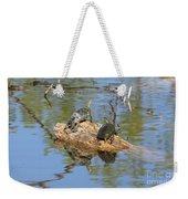 Turtles On Stump Weekender Tote Bag
