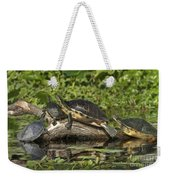 Turtles Sunning Weekender Tote Bag
