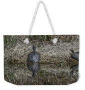 Turtles Sunning On Bank Weekender Tote Bag