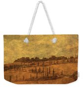Landscape And Winding Road With Cypress Trees Weekender Tote Bag