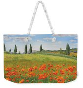 Tuscan Poppies-b Weekender Tote Bag