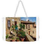 Tuscan Terrace Poster Weekender Tote Bag