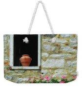 Tuscan Window And Flower Pot Weekender Tote Bag