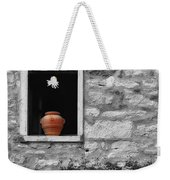 Tuscan Window And Pot Bw And Color Weekender Tote Bag