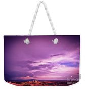 Tuscania Village With Approaching Storm  Italy Weekender Tote Bag