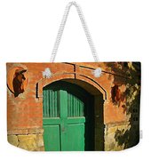 Tuscany Door With Horse Head Carvings Weekender Tote Bag