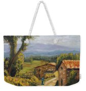 Tuscany Farm Road Weekender Tote Bag