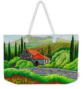 Tuscany Poppies Weekender Tote Bag