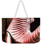 Tusk 4 - Red Elephant Art Weekender Tote Bag