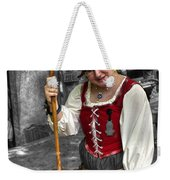 Tutor Milkmaid Churning Butter  V2 Weekender Tote Bag