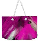 Tutu Stage Left Abstract Fuchsia Weekender Tote Bag