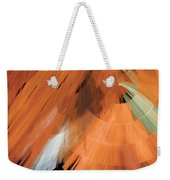 Tutu Stage Left Peach Abstract Weekender Tote Bag