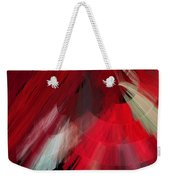 Tutu Stage Left Red Abstract Weekender Tote Bag
