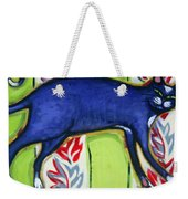 Tuxedo Cat On A Cushion Weekender Tote Bag
